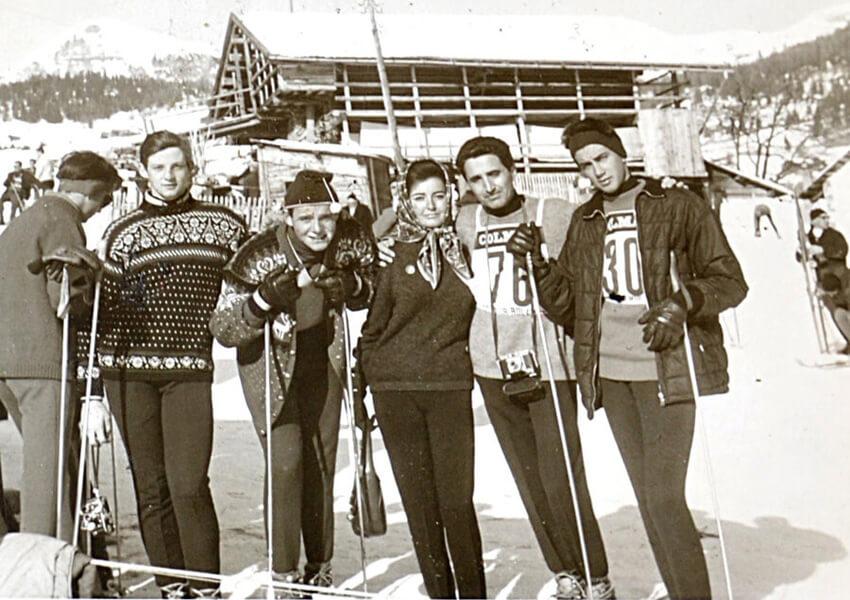1962 Selva Valgardena, Camp. Ital Cittadini squadra SAI Gargiullo, Pasqualucci, Scheggi e